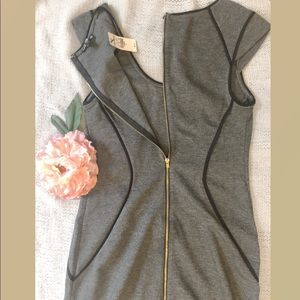 NWT Express cap sleeve zip up dress